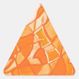 Orange Crush Abstract by  Kara Willis Triangle Sticker