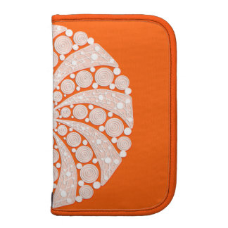 Orange Crush abstract folio Organizer