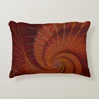 Orange Crush Abstract Accent Pillow