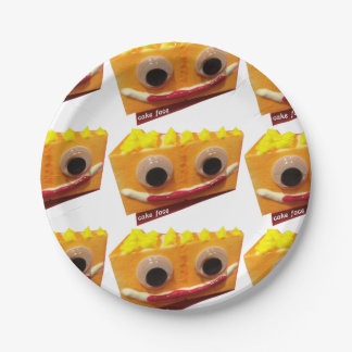 Orange Crush Cake Face Paper Plates 7 Inch Paper Plate