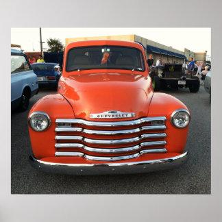 Orange Crush Chevy Poster