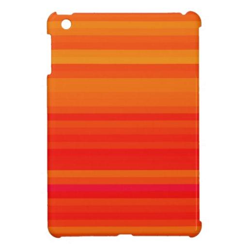 Orange Crush Crazy Stripes iPad Mini Case