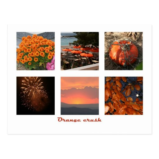 Orange crush postcard