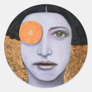 Orange Crush Round Sticker
