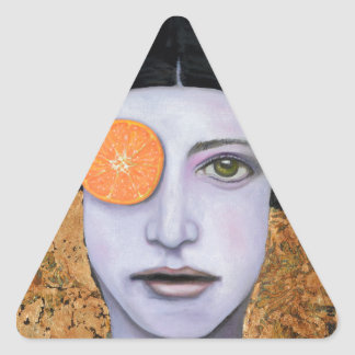 Orange Crush Triangle Sticker