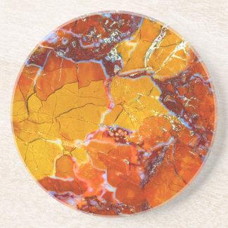 Orange-Crushed Texture Drink Coasters