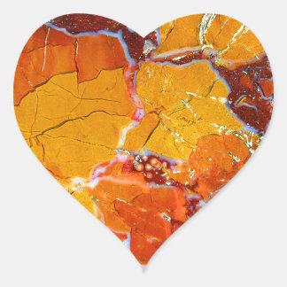 Orange-Crushed Texture Heart Sticker