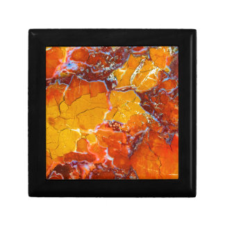 Orange-Crushed Texture Small Square Gift Box