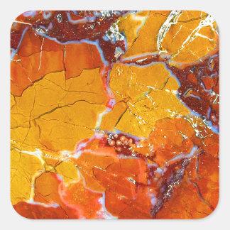 Orange-Crushed Texture Square Sticker