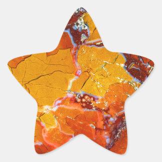 Orange-Crushed Texture Star Sticker