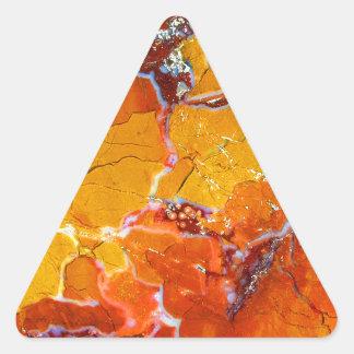 Orange-Crushed Texture Triangle Sticker