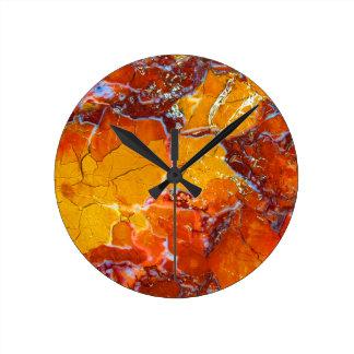 Orange-Crushed Texture Wallclock