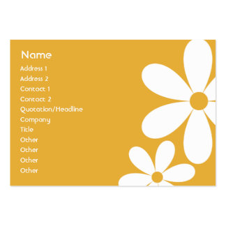 Orange Daisies - Chubby Business Cards