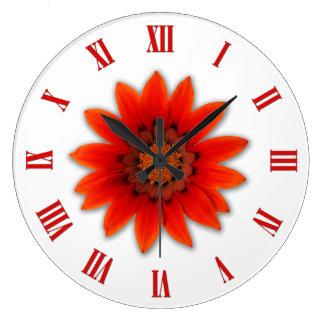 Orange Daisies Flowers Clocks