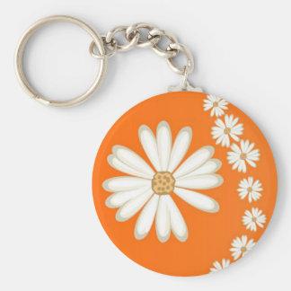 orange daisies keychain