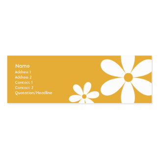 Orange Daisies - Skinny Business Card Template