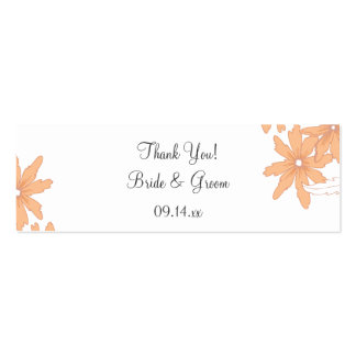 Orange Daisies Wedding Thank You Favor Tag Pack Of Skinny Business Cards