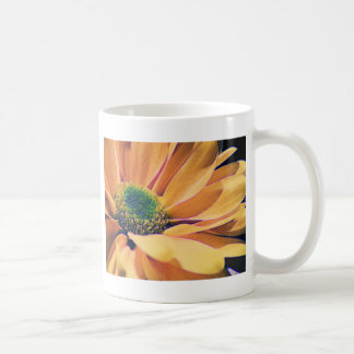 Orange Daisy Basic White Mug
