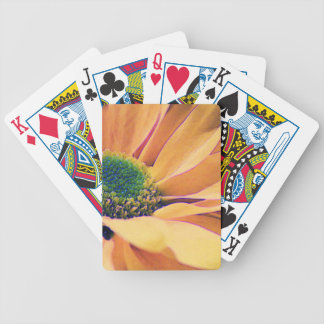 Orange Daisy Bicycle Playing Cards