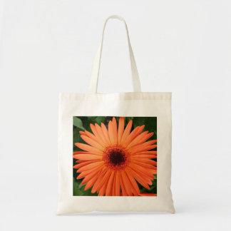orange daisy budget tote bag