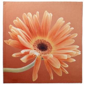 orange daisy cloth napkins