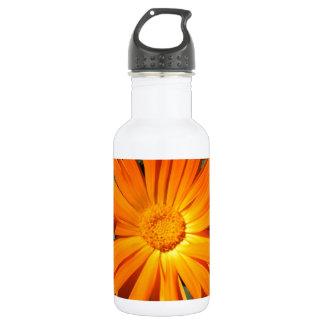 Orange Daisy design Customizable 532 Ml Water Bottle