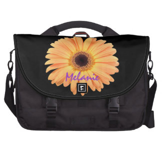 Orange Daisy Laptob Bag Template Laptop Messenger Bag