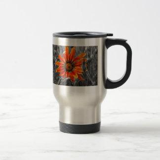 Orange Daisy Stainless Steel Travel Mug