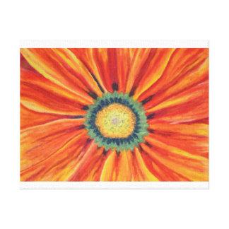 Orange Daisy Stretched Canvas Print