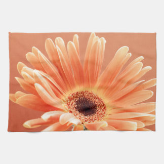 orange daisy tea towels
