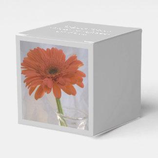 Orange Daisy Wedding Favor Box Wedding Favour Box