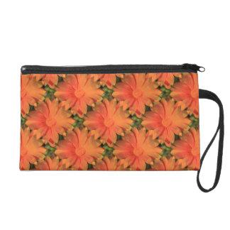 Orange Daisy - Wristlet