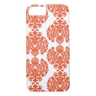 Orange Damask iPhone 7 case