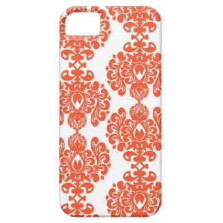 Orange Damask iPhone Case iPhone 5 Cover