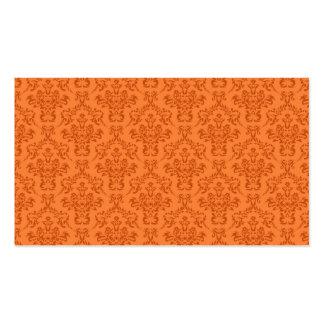 Orange Damask Pattern Pack Of Standard Business Cards