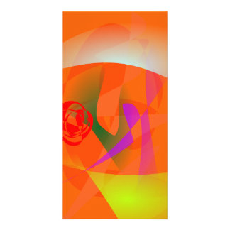 Orange Daylight Photo Card Template