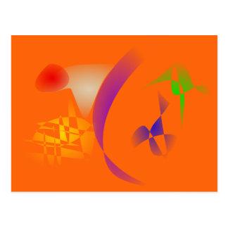 Orange Desert Band Postcard