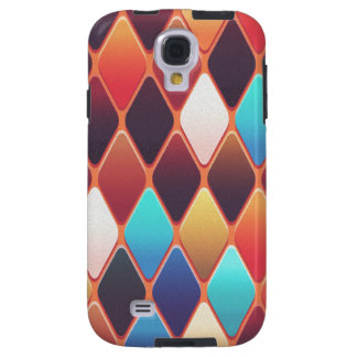 Orange Diamond Mosaic Galaxy S4 Case