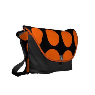 Orange Dot Messenger Bag