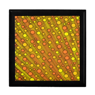 Orange dots large square gift box