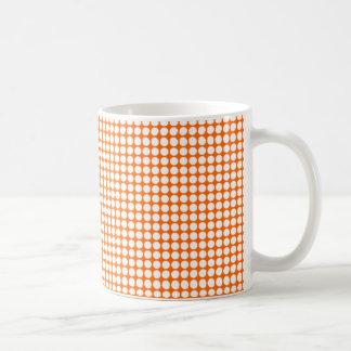 Orange Dots Basic White Mug