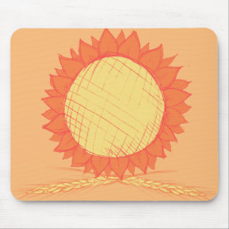Orange Fall Floral Mouse Pad