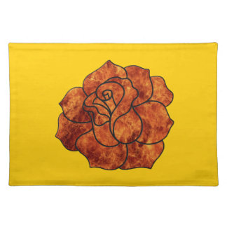 Orange Fire Rose Placemat