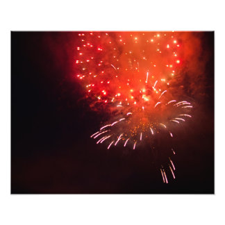 Orange Firework Photo Print