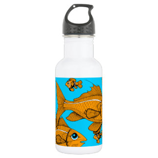 Orange Fish 532 Ml Water Bottle