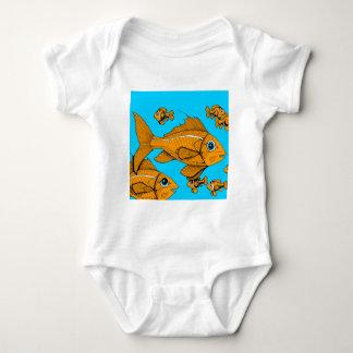 Orange Fish Baby Bodysuit