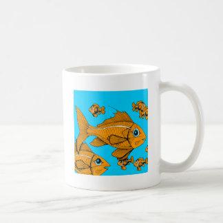 Orange Fish Basic White Mug