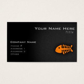 Orange Fish Bones Business Card