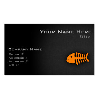 Orange Fish Bones Business Cards