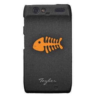 Orange Fish Bones Motorola Droid RAZR Case